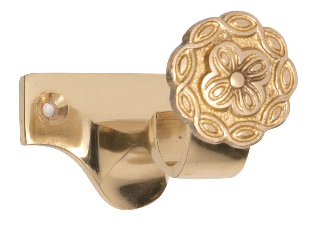Curtain Bracket - Centre 25mm Polished Brass4601