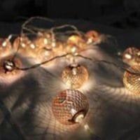 Chain Battery Lanterns Copper