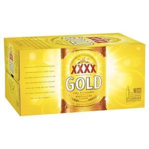 XXXX GOLD STUB CARTON