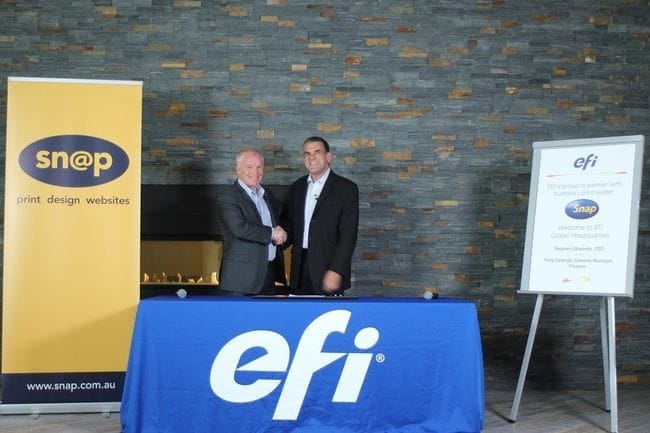 PRESS RELEASE: Snap Franchising Takes on EFI Technology to Transform