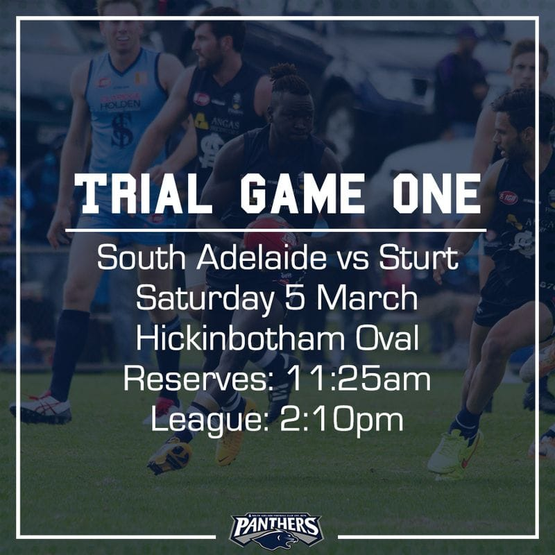 Trial Game One: South vs Sturt - Teams
