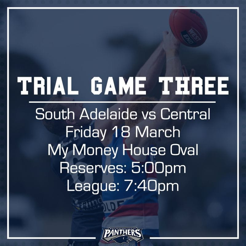 Trial Game Three: South vs Centrals - Teams