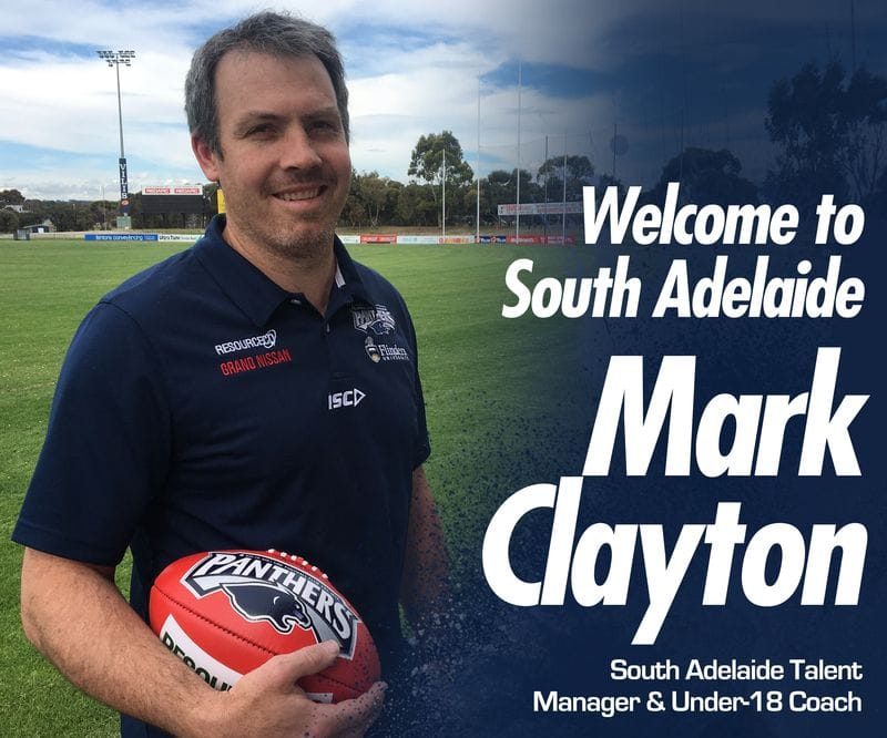 Mark Clayton appointed as South Adelaide Talent Manager and Under-18s Coach