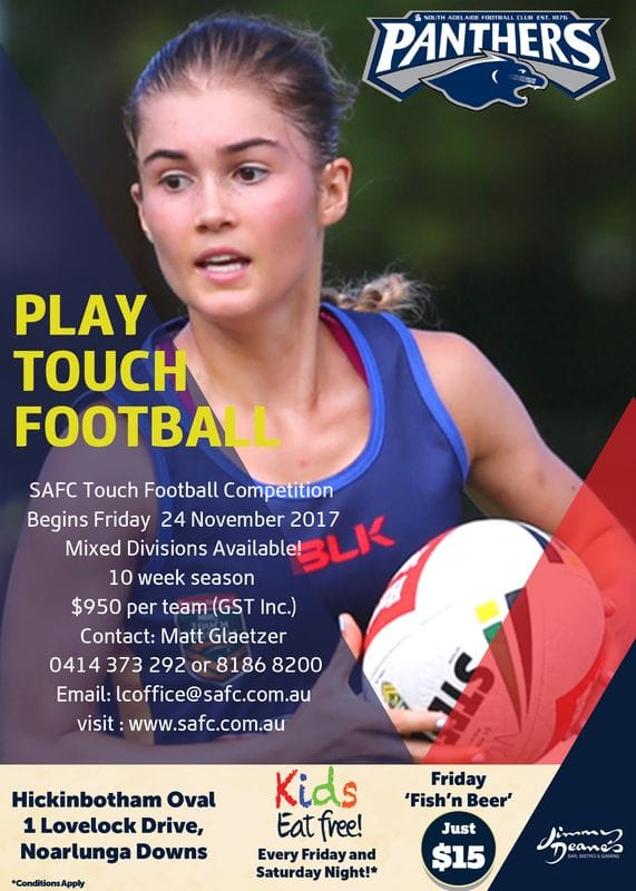 Play Summer Touch Football at South Adelaide