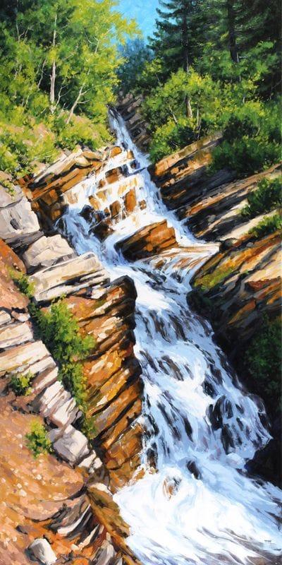 Cascading Falls - Akamina Parkway (Waterton)