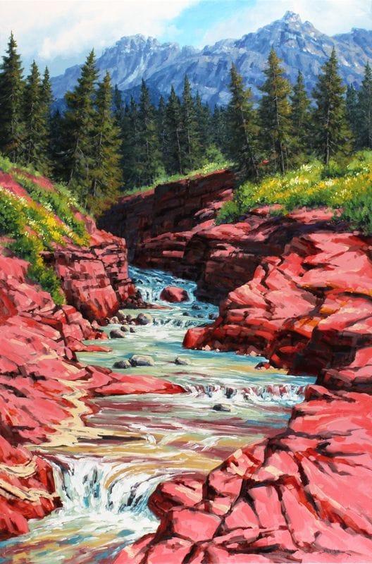 Red Rock Canyon - Waterton