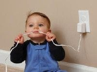 Child proofing electrical outlets and plugs