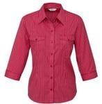 Ladies Cuban 3/4 Sleeve Shirt