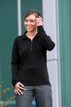 Ladies Merino Zip Pullover