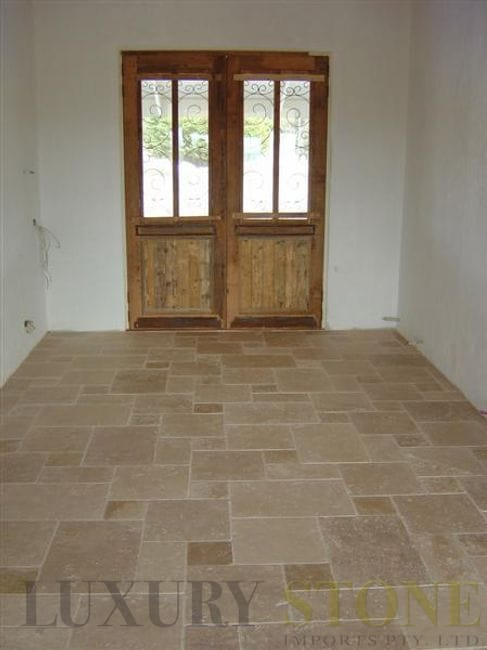 french pattern tile travertine tiles