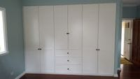 2 pack painted profile hinged doors with external drawer box
