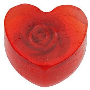 Heart Soap with Rose