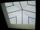 Richmond - Interior view of a glass pyramid
