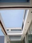 Caulfield - An interior view of the open single sliding skillion style retractable roof