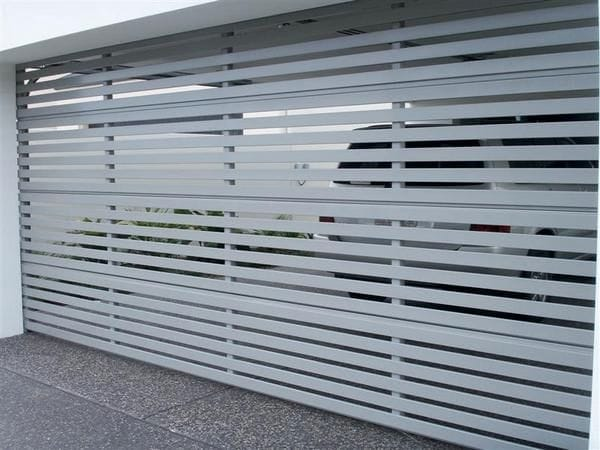 Aluminium Slatted Panelift Door