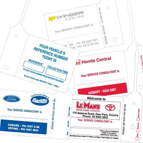 Personalised Service Tag
