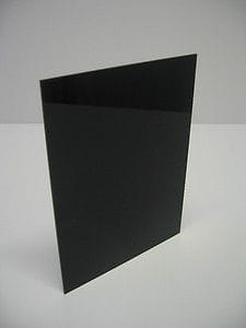 A3 Size 420x297x6mm Black Gloss Acrylic CAST Sheet