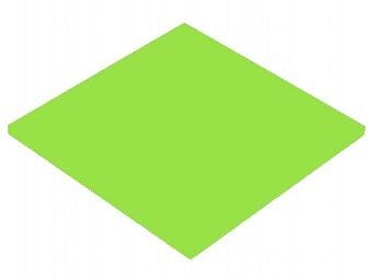 Acrylic Frosted Lime Green Sheet 300 x 600 x 3mm