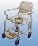 Deluxe mobile shower chair